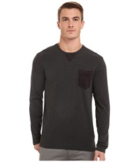 7 Diamonds Cain Long Sleeve Shirt Charcoal Men's Long Sleeve Pullover Gray
