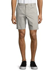 Black Brown Cotton Chino Shorts Dusty Grey