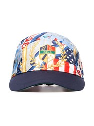 Polo Ralph Lauren Logo Crest Print Baseball Cap Multicoloured