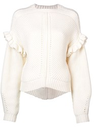 Jason Wu Structured Knit Sweater White
