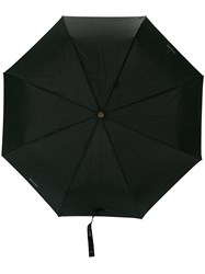 Moschino Pinstripe Umbrella Black