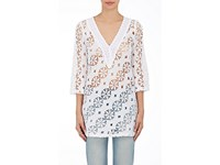 Temptation Positano Women's Spino Cotton Lace Tunic Shirt White