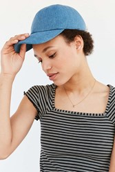 Urban Outfitters Denim Baseball Hat Light Blue
