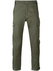 Les Hommes Straight Cargo Trousers Men Cotton Spandex Elastane 50 Green