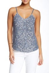 Hazel Beaded And Sequin Tank Gray