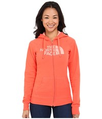 The North Face Half Dome Full Zip Hoodie Radiant Orange Neon Peach Women's Fleece