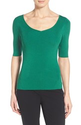 Women's Classiques Entier Ribbed Sweetheart Neck Top Green Verdant