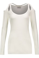 Bailey 44 Monarch Cutout Jersey Top White