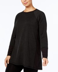 Ideology Plus Size Tunic Created For Macy's Noir Feeder Stripe