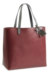 Kelsi Dagger 'Commuter' Leather Tote Red