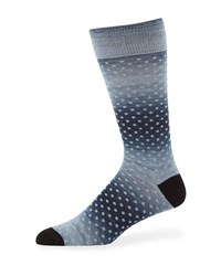Neiman Marcus Dotted Cotton Socks Black
