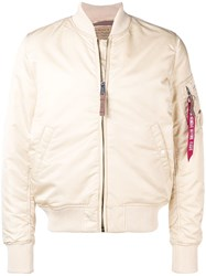 Alpha Industries Classic Bomber Jacket Nude And Neutrals