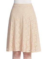 The Vanity Room Lace A Line Skirt Nude