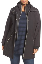 Jessica Simpson Plus Size Women's Anorak With Faux Fur Trim