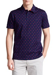 Thomas Pink Sion Textured Classic Fit Polo Shirt Navy