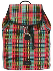 Paul Smith Woven Backpack Men Leather Polyurethane One Size Black
