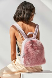 Skinnydip Charlie Pink Faux Fur Mini Backpack