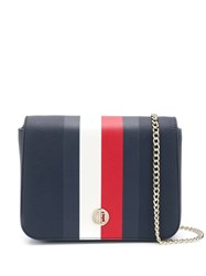 Tommy Hilfiger Contrast Stripe Crossbody Bag Blue