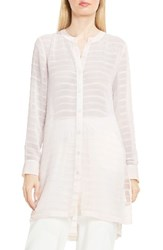 Vince Camuto Women's Sheer Stripe Tunic Pink Mimosa