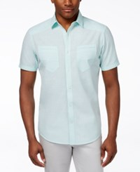 Inc International Concepts Duck Dive Short Sleeve Shirt Only At Macy's Aqua Ice