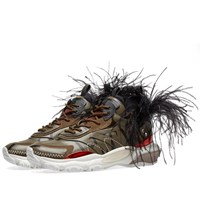 Valentino Feather Show Sneaker Green
