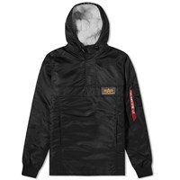 Alpha Industries Hooded Popover Anorak Black