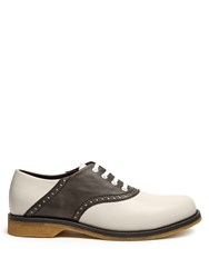 Bottega Veneta Leather Oxford Shoes Black Multi