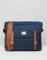 Sandqvist Erik Cordura Messenger Bag In Blue Blue