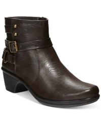 Easy Street Shoes Easy Street Carson Booties Women's Shoes Brown