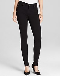 7 For All Mankind Jeans Double Knit High Waist Skinny In Black