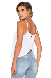 Obey Anya Open Back Tank White