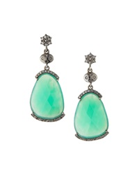 Bavna Chrysoprase Drop Earrings