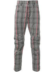 G Star Raw Research Houndstooth Pattern Trousers Black