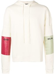 Raf Simons Colour Block Hoodie Nude And Neutrals