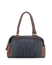 Tina Two Tone Leather Satchel Bag Slate Multi Oryany