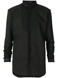 Unconditional Applique Bib Shirt Black