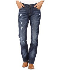 Rock And Roll Cowgirl Mid Rise Bootcut In Dark Vintage W2 8473 Dark Vintage Women's Jeans Navy