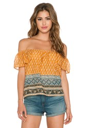 Eternal Sunshine Creations Flower Bazzar Tube Top Yellow
