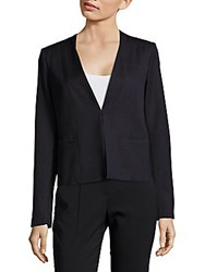 T Tahari Binx V Neck Jacket Navy