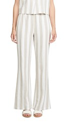 Knot Sisters Elenor Pants Taupe Natural Stripe