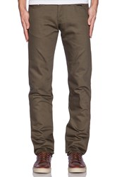 Naked And Famous Weird Guy Selvedge Chino 12Oz. Green
