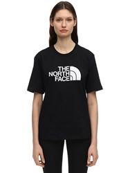 The North Face Logo Print Easy Cotton T Shirt Black