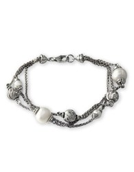 Effy Freshwater Pearl And Sterling Silver Multi Chain Bracelet