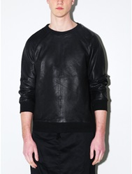 Oak Rib Panel Crewneck Black Oak