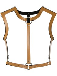 A La Garconne Leather Harness Unisex Leather One Size Brown