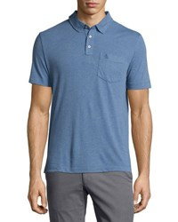Original Penguin Blended Solid Knit Polo Shirt Classic Blue