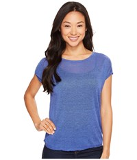 Nic Zoe Every Day Tissue Tee Poolside Women's T Shirt Blue