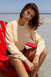 Urban Outfitters Kyoto Cropped Crew Neck Sweatshirt Yellow