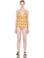 Mc2 Saint Barth Watermelon Lycra One Piece Swimsuit