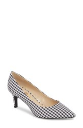 Callisto Hit Pan Pump Black Gingham Fabric